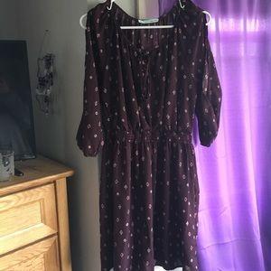 Purple Pattern Summer Dress